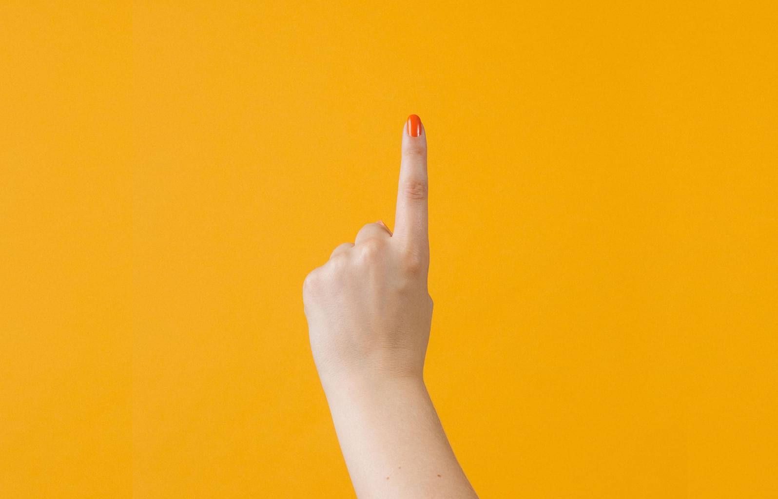 Finger pointing to change management tips