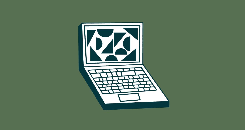 illustration d'un ordinateur portable