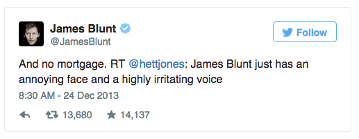 Relate Internet Trolls James Blunt