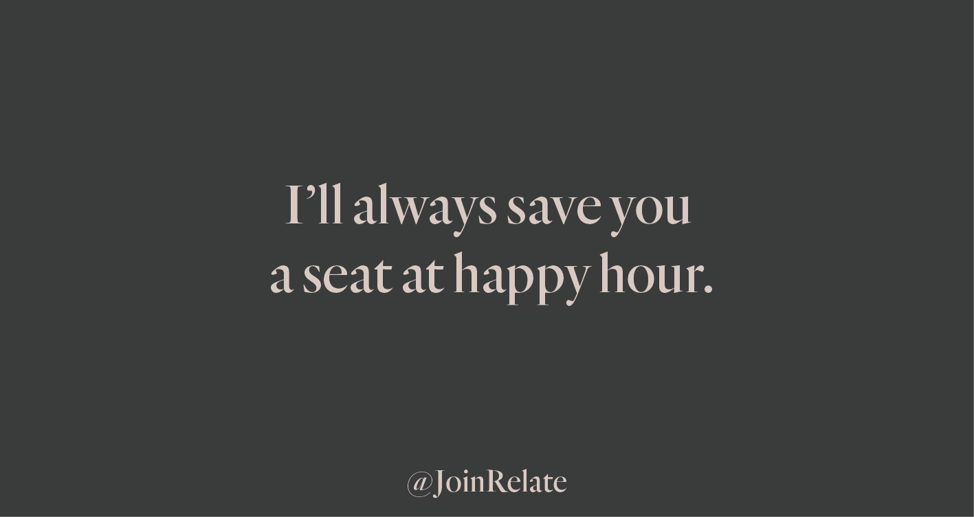 Relate work mate happy hour card