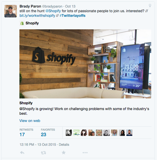 Twitter layoffs Shopify Relate