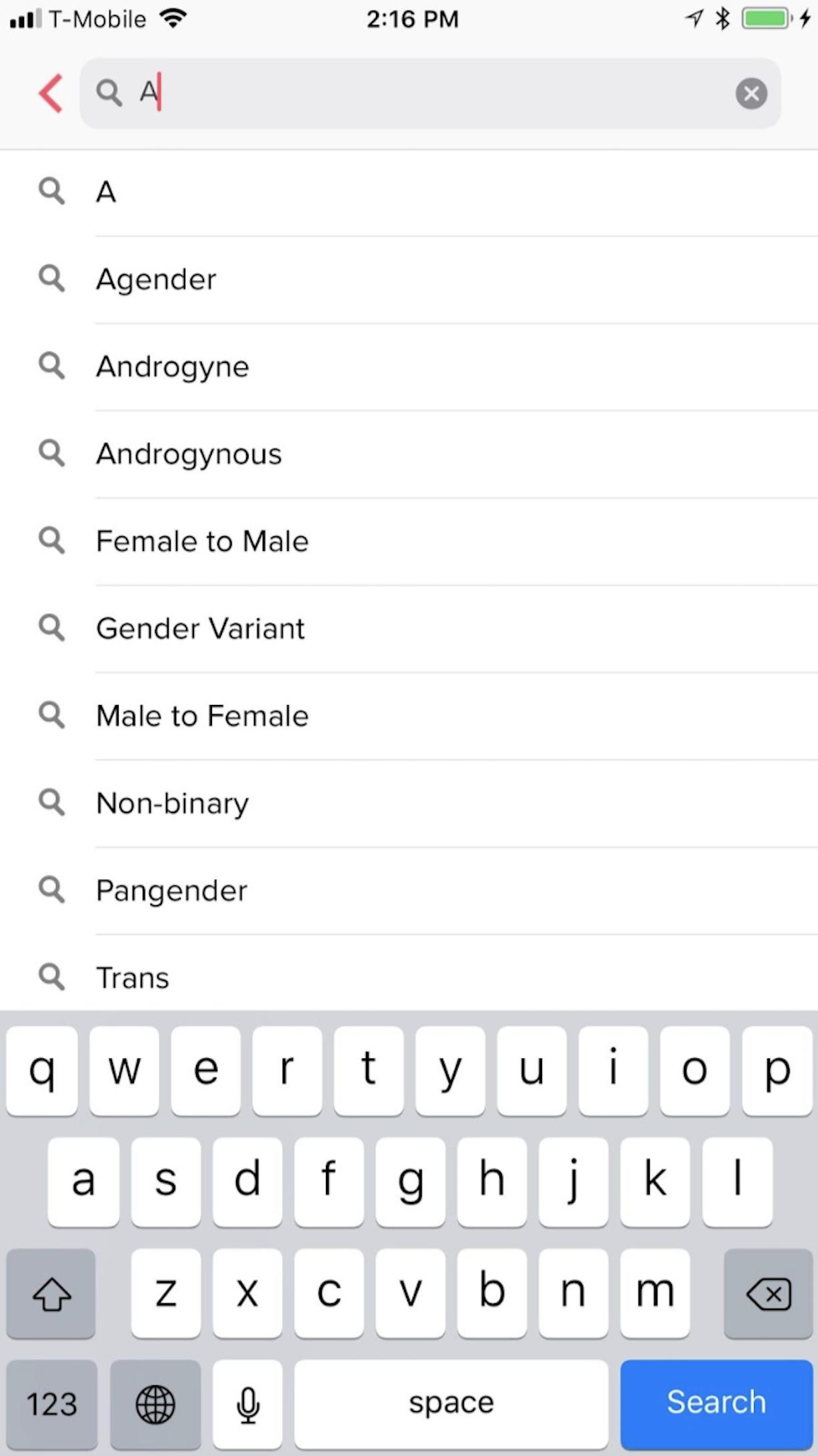 tinder pronouns search