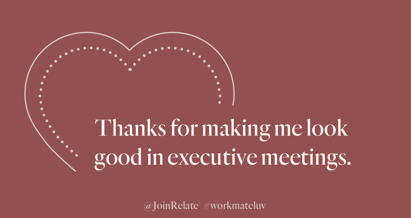 Relate cards Workmate Luv executive meetings