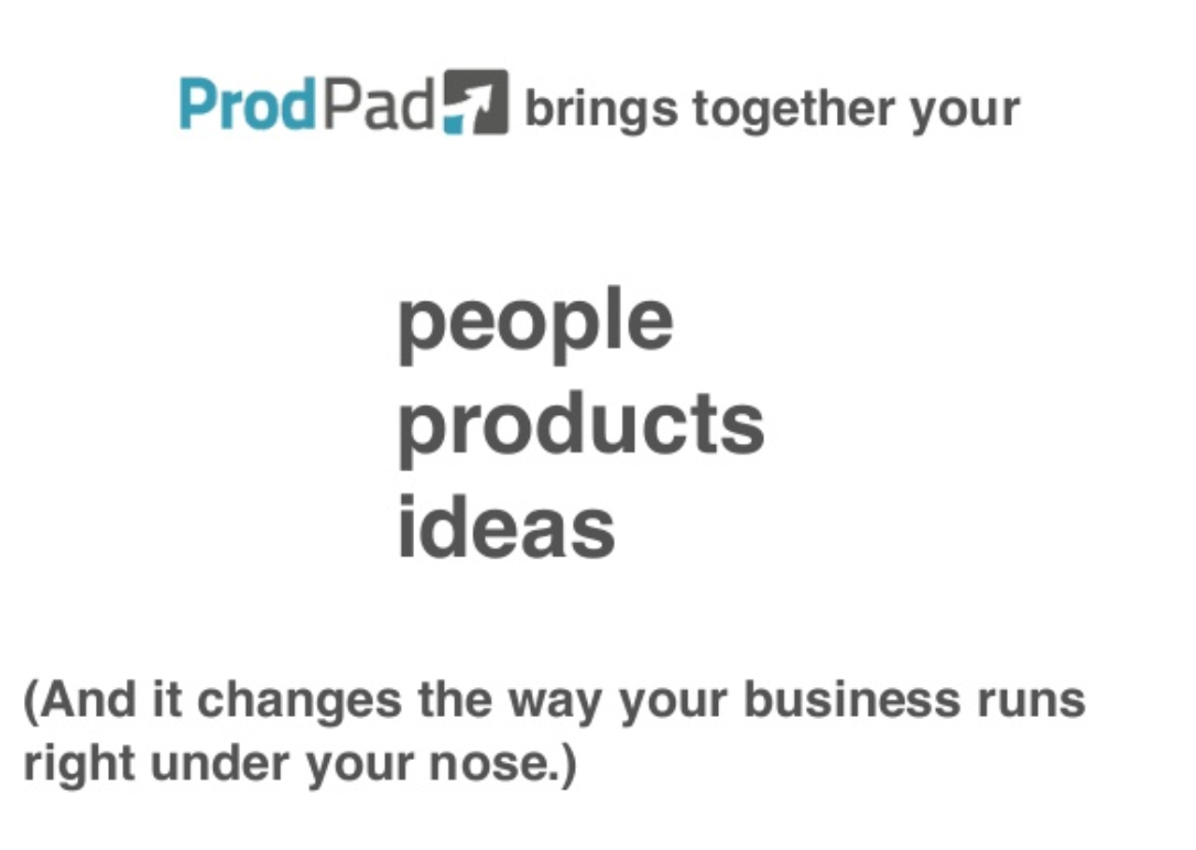 ProdPad people products ideas
