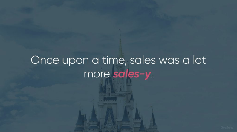 sales was more sale-y