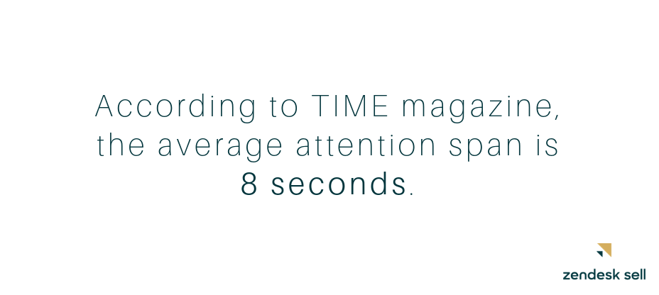 Average attention span is 8 seconds