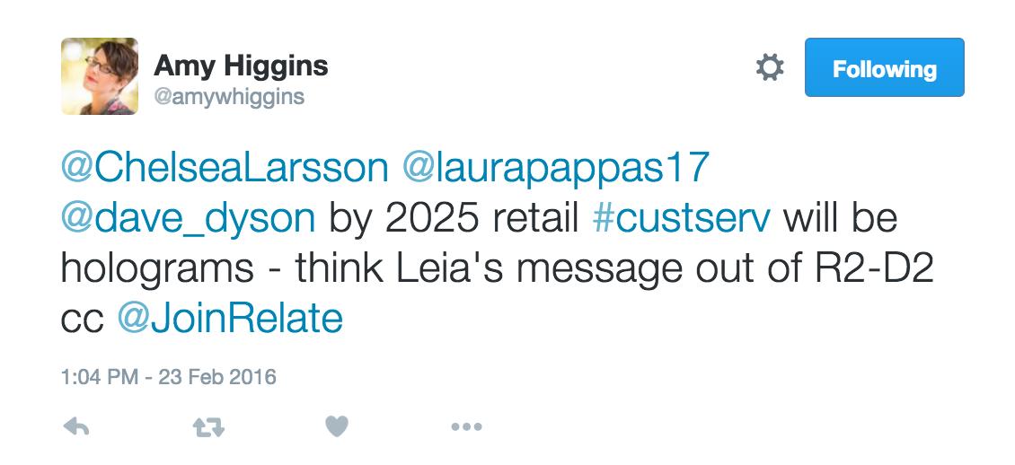 Amy Higgins future of retail Zendesk