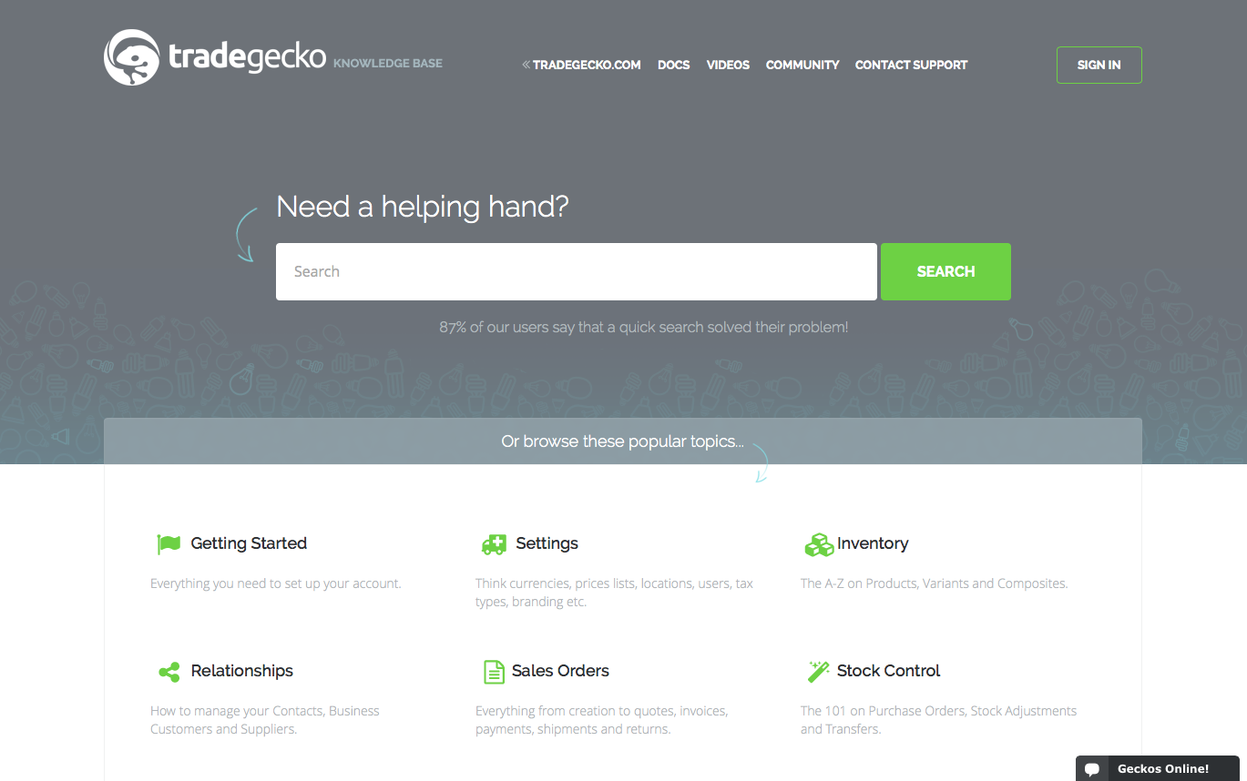 TradeGecko Help Center
