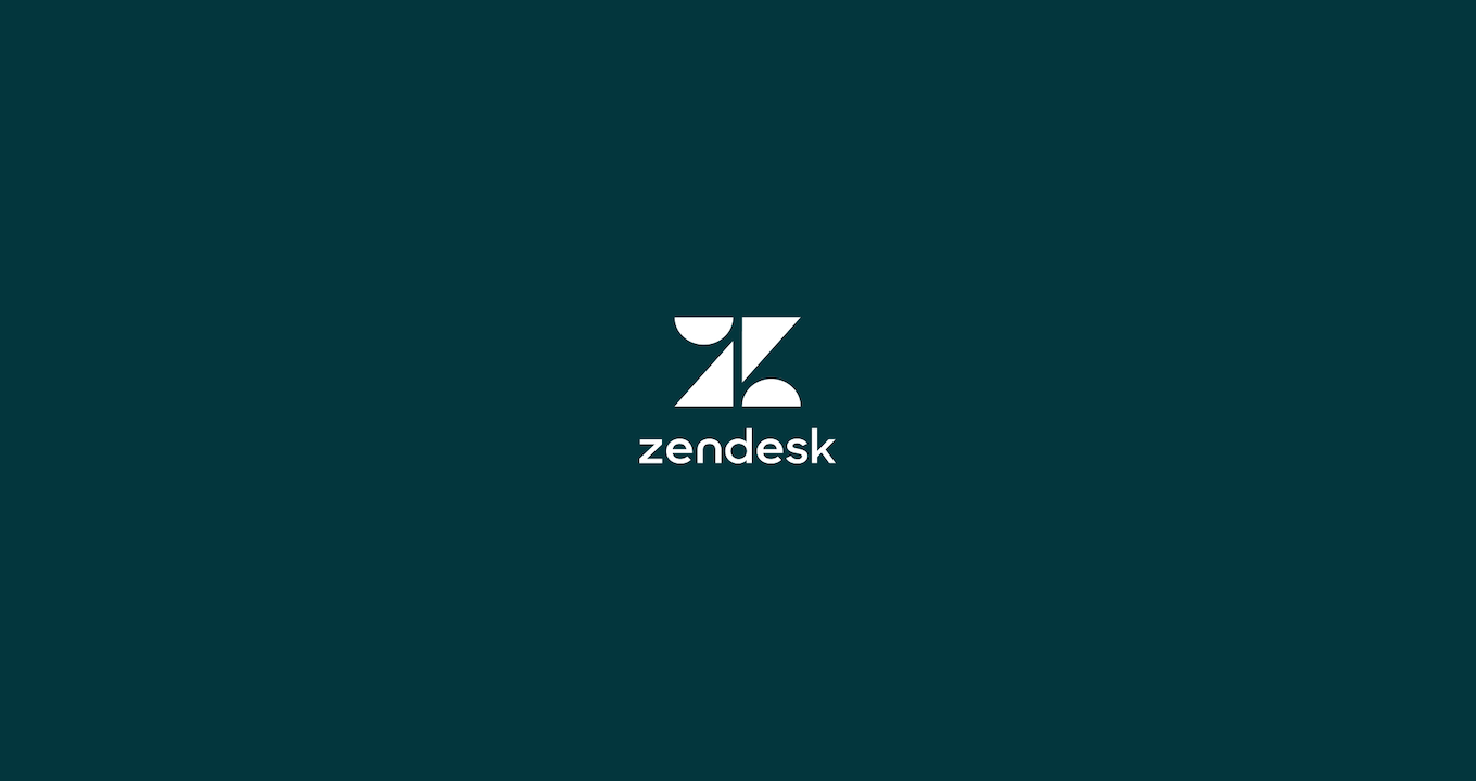 Zendesk company logo on a plain background