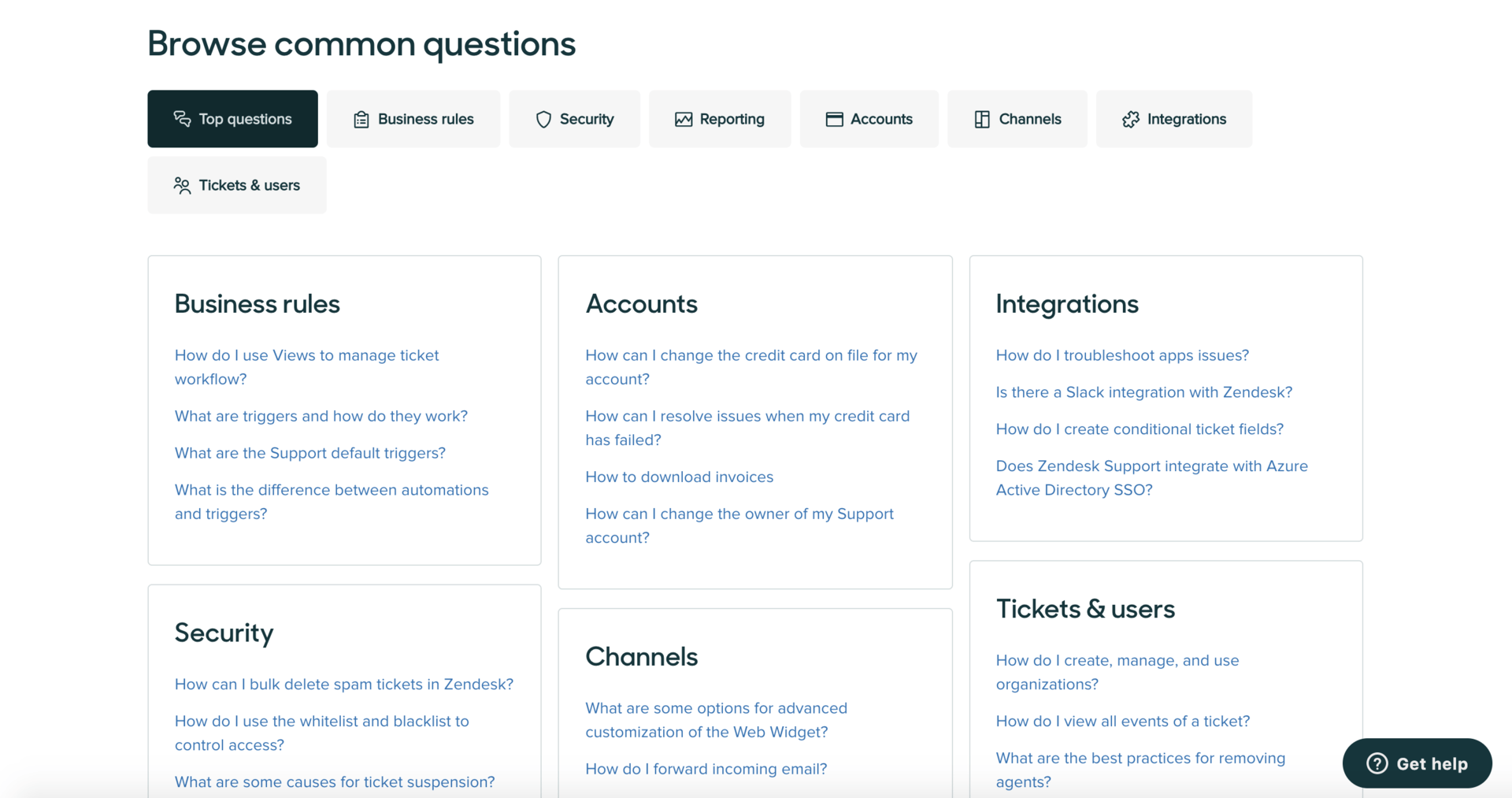 Zendesk knowledge base article template