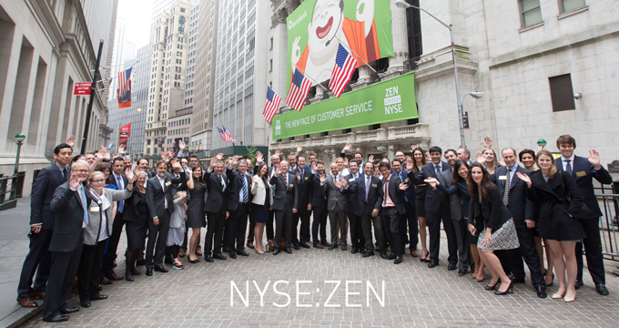Zendesk debuts on the New York Stock Exchange