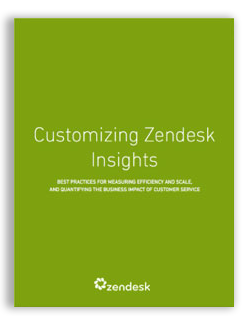 Customizing Zendesk Insights