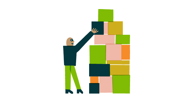 illustration of a person with building blocks