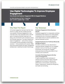 How to improve employee engagement - Forrester