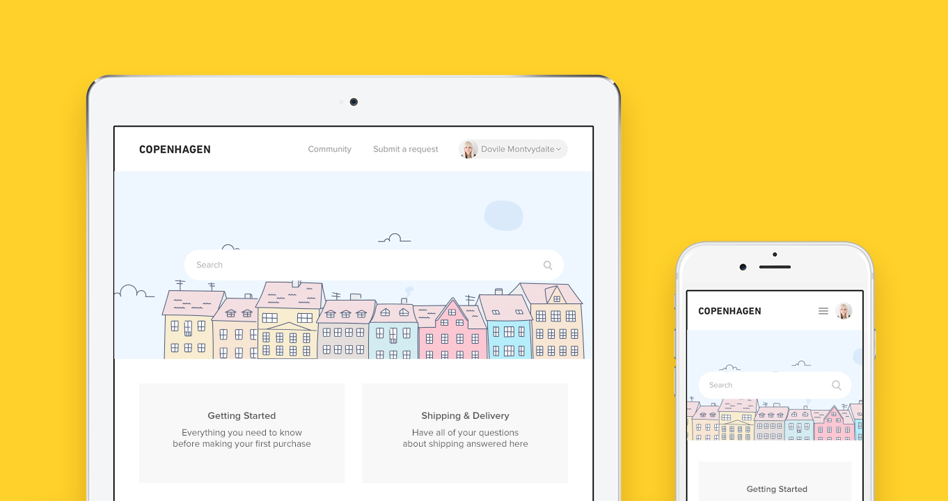 "Meet ""Copenhagen"", Zendesk's new responsive Help Center theme"